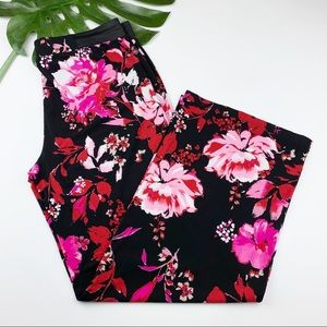 INC Wide Leg Pants Floral Spring Stretchy Fabric L